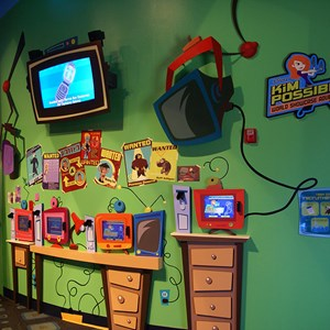 4 of 16: Disney's Kim Possible World Showcase Adventure - An area photo of the touch screens in Innoventions.