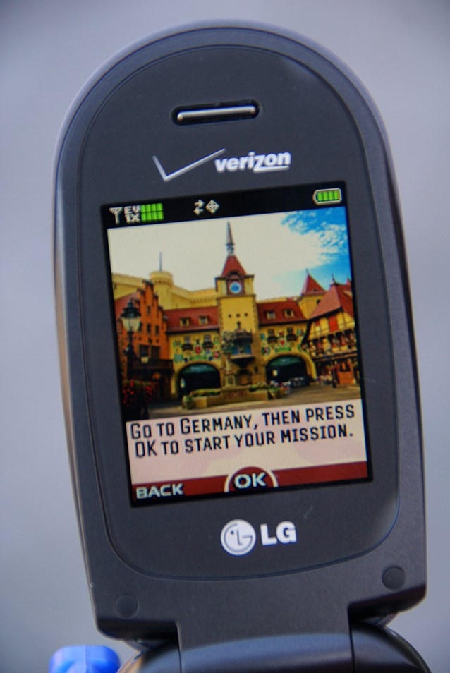 Disney's Kim Possible World Showcase Adventure - A closeup of the screen giving directions on where to begin.
