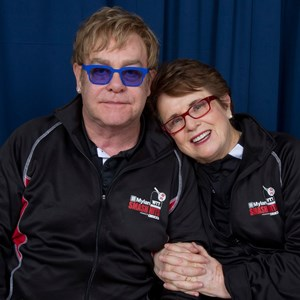 1 of 3: ESPN Wide World of Sports - 2012 Mylan Smash Hits - Sir Elton John and Billie Jean King