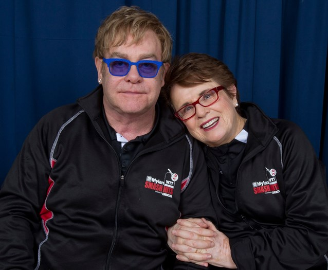 ESPN Wide World of Sports - 2012 Mylan Smash Hits - Sir Elton John and Billie Jean King