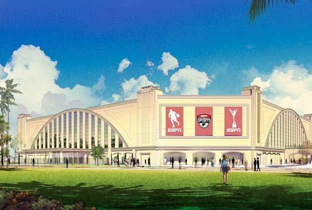 ESPN Wide World of Sports cheer and dance venue concept art