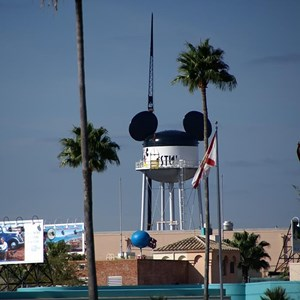 1 of 6: Earffel Tower - Earffel Tower logo being painted today