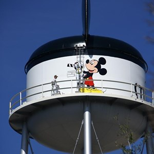 2 of 6: Earffel Tower - Earffel Tower logo being painted today