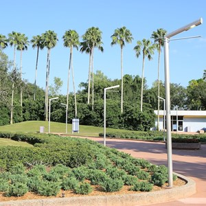 2 of 2: Epcot - What Will You Celebrate signs down at park entrance