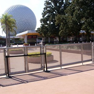 3 of 4: Epcot - New entry area fence