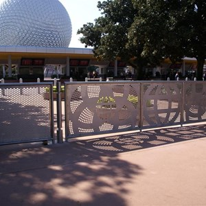 4 of 4: Epcot - New entry area fence