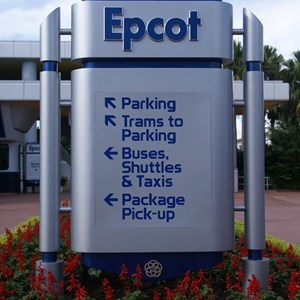 1 of 3: Epcot - New main entrance area signs