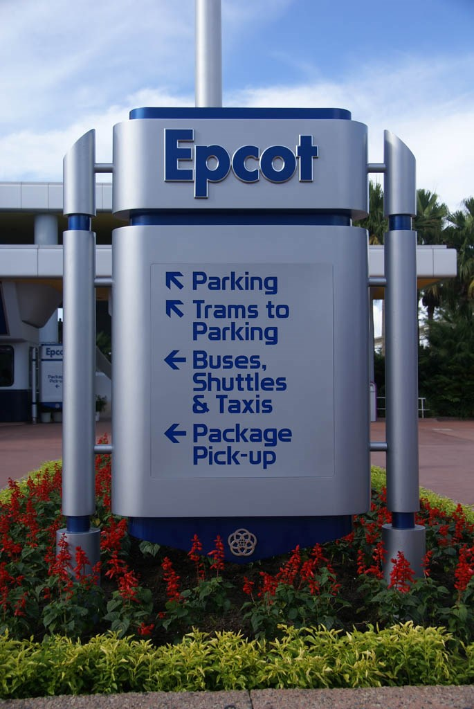New main entrance area signs