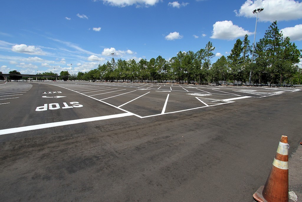 Parking lot refurbishment