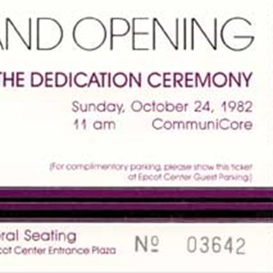 2 of 6: Epcot - Epcot Opening Gala tickets