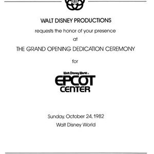 3 of 6: Epcot - Epcot Opening Gala tickets
