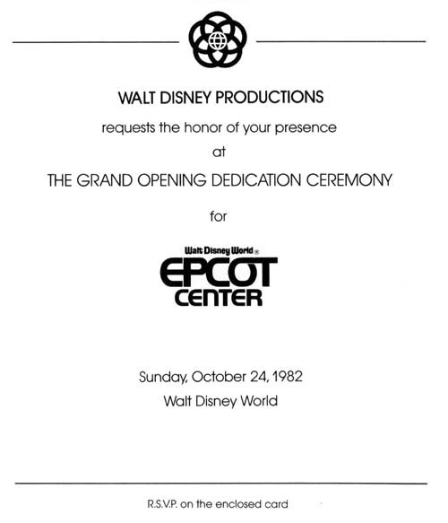 Epcot Opening Gala tickets