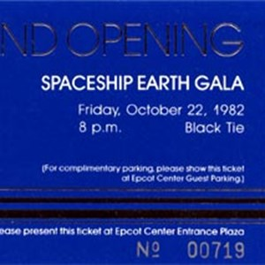4 of 6: Epcot - Epcot Opening Gala tickets
