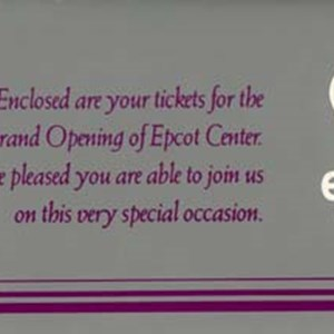 6 of 6: Epcot - Epcot Opening Gala tickets