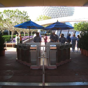 1 of 4: Epcot - The turnstyle-less entry system tested back in March 2011