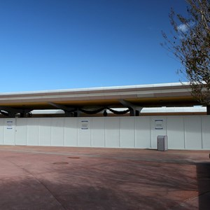 2 of 4: Epcot - Construction walls up in November 2011