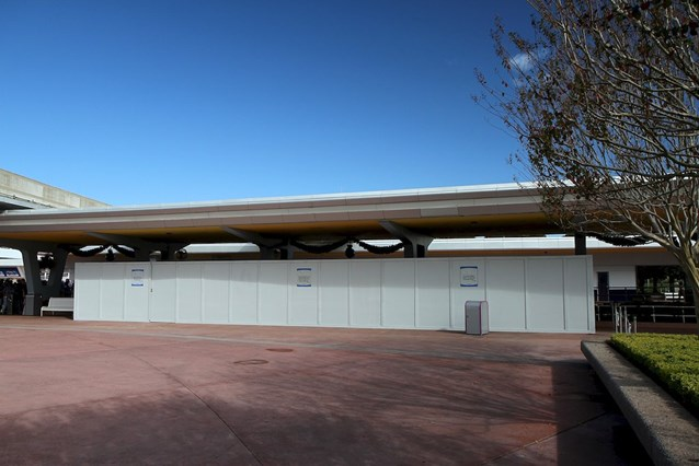 Epcot - Construction walls up in November 2011