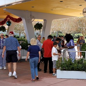 2 of 7: Epcot - Entering the group RFID entry area