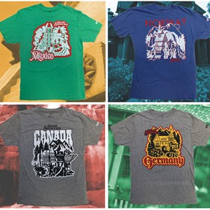 3 of 4: Epcot - Epcot 30th Anniversary retro T-Shirt - Mexico, Norway, Canada, Germany
