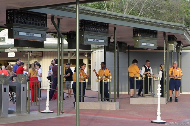 Epcot - New RFID turnstile entrance at the Magic Kingdom