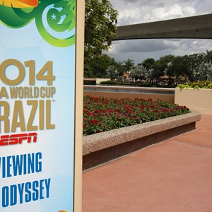 5 of 12: Epcot - 2014 FIFA World Cup at Epcot - Odyssey Viewing area sign