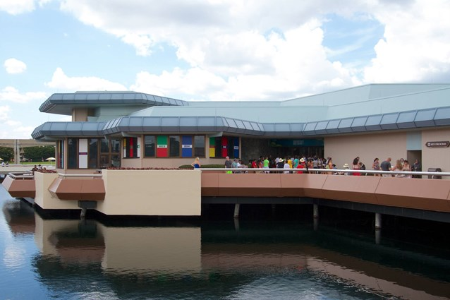 Epcot - 2014 FIFA World Cup at Epcot - Odyssey Restaurant setup for the World Cup