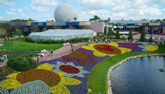 Height test balloons over Epcot today as plans for Epcot's Future World take shape