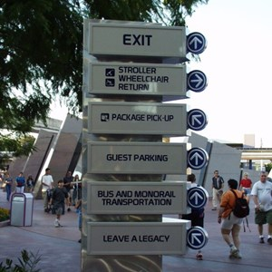 1 of 5: Epcot - New Signs