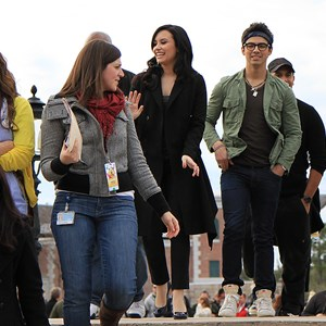 1 of 10: Epcot - Celebrities Demi Lovato and Joe Jonas at Epcot