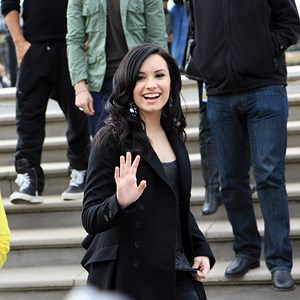 7 of 10: Epcot - Celebrities Demi Lovato and Joe Jonas at Epcot