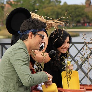 6 of 10: Epcot - Celebrities Demi Lovato and Joe Jonas at Epcot