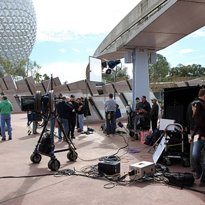 3 of 8: Epcot - Tom Bergeron filming America's Funniest Home Videos at Epcot