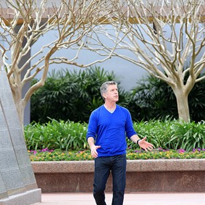 5 of 8: Epcot - Tom Bergeron filming America's Funniest Home Videos at Epcot