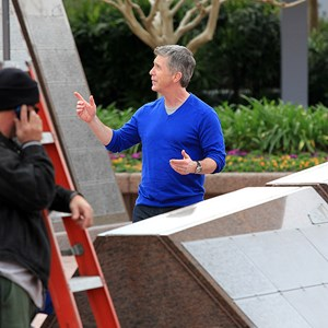 6 of 8: Epcot - Tom Bergeron filming America's Funniest Home Videos at Epcot