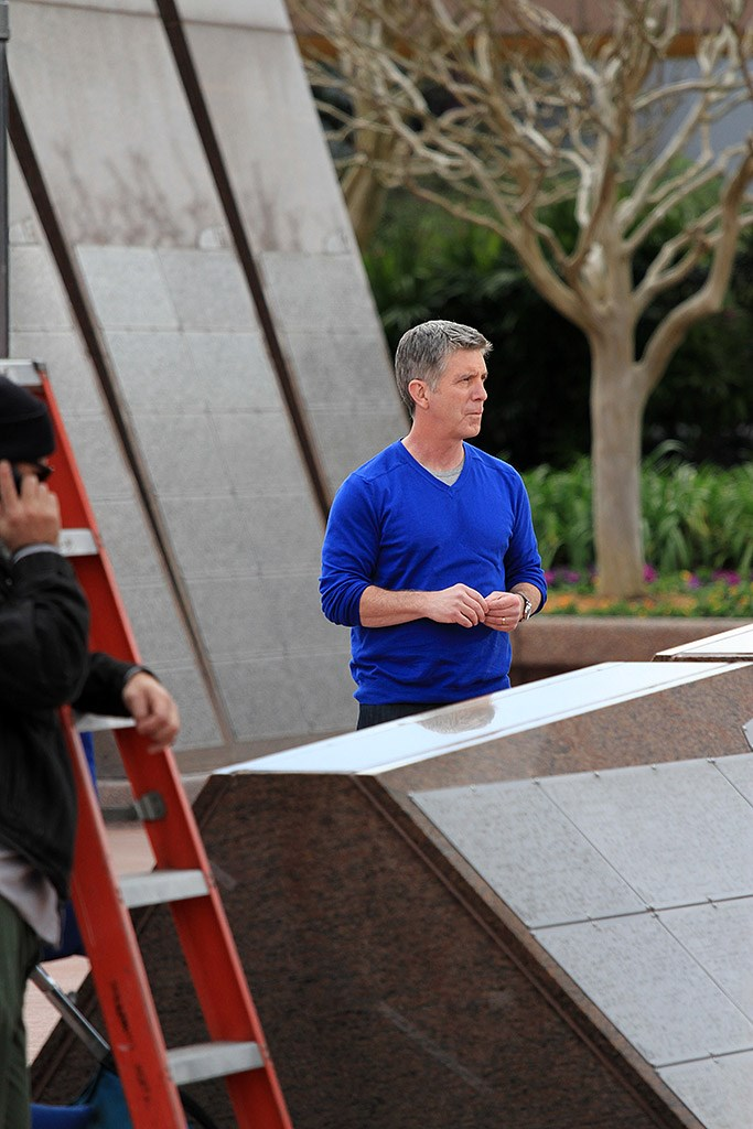Tom Bergeron filming America's Funniest Home Videos at Epcot