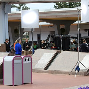 8 of 8: Epcot - Tom Bergeron filming America's Funniest Home Videos at Epcot