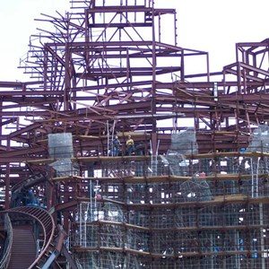 3 of 8: Expedition Everest - Expedition Everest construction