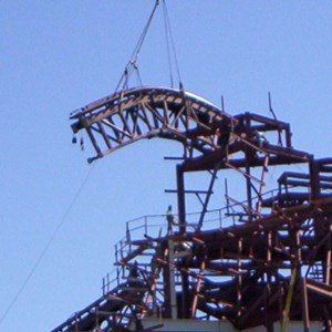 3 of 5: Expedition Everest - Expedition Everest construction