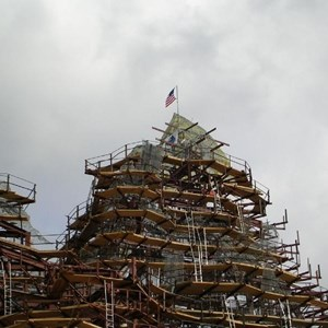4 of 8: Expedition Everest - Expedition Everest construction