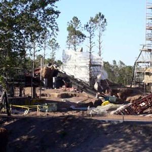 21 of 22: Expedition Everest - Expedition Everest construction