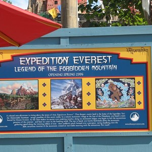 43 of 44: Expedition Everest - Expedition Everest construction