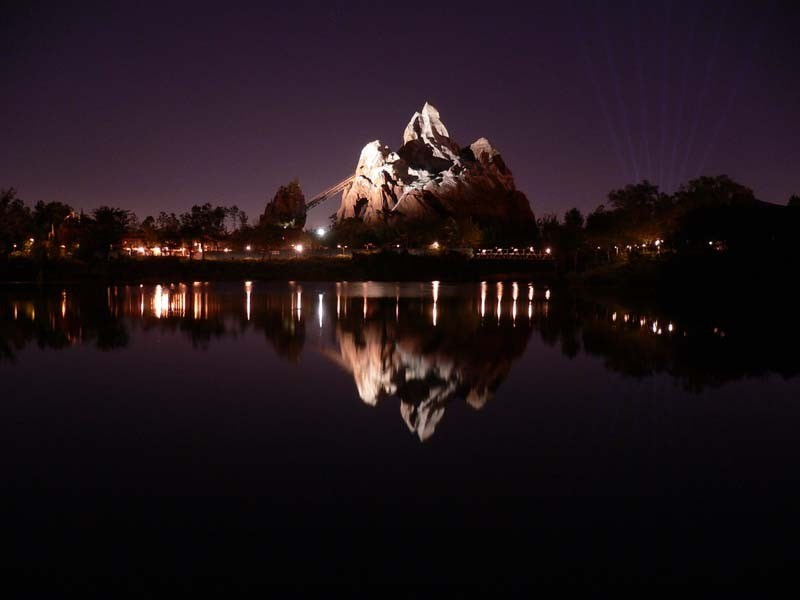 Expedition Everest at night
