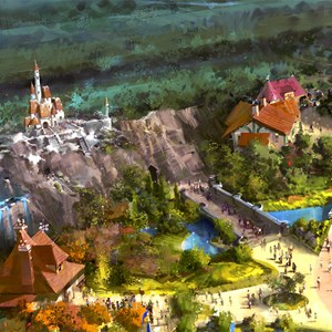 6 of 13: Fantasyland - Beast's Castle, Be Our Guest Restaurant, Gaston's Tavern and Bonjour! Village Gifts