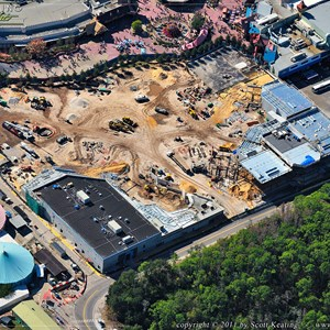 1 of 1: Fantasyland - Aerial view of construction site