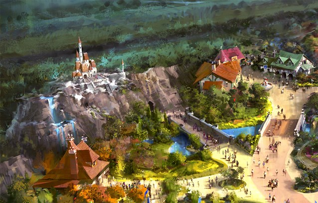 Fantasyland - Concept art of Beast's Castle