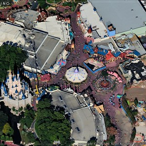 4 of 4: Fantasyland - Aerial view of construction site