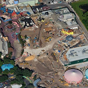 3 of 4: Fantasyland - Aerial view of construction site