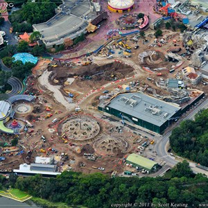 1 of 8: Fantasyland - View of the entire Fantasyland construction site