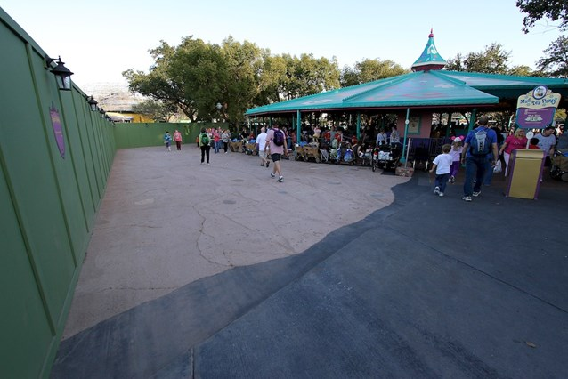 Fantasyland - The old (nearly black) concrete meets the new
