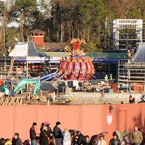 2 of 2: Fantasyland - Dumbo back on the ground after a brief test flight